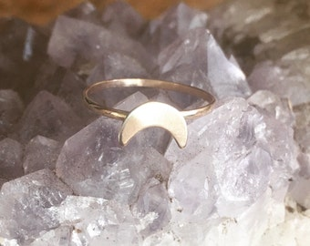 Gold Filled La Luna Moon Crescent Ring