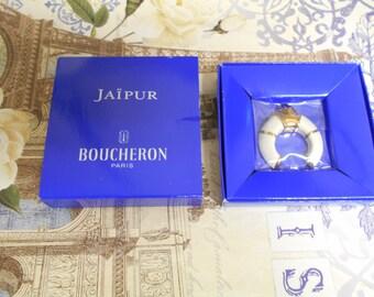 Boucheron Jaipur enameled perfumed ceramic replica of the Jaipur bracelet bottle. Scented ceramic sachet, scent diffuser.