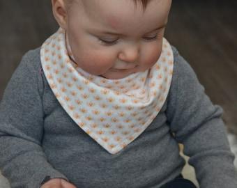 Tiny Peach Petals - Baby Bandana Bib - Drool Bib