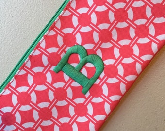 Monogrammed Buoy Perfect Zip Pouch