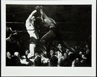 GEORGE BELLOWS - very rare original photographic print - c1940s (Baltimore Sun archives COA)