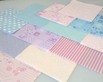 "30 x Baby ABC 5"" Fabric Patchwork Squares Pieces Charm Pack"