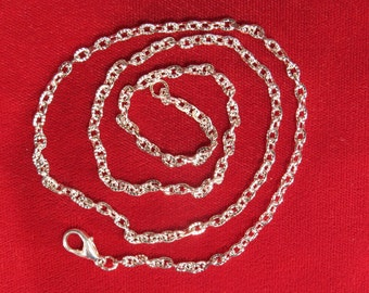 BULK! 12pc 20 inch silver-plated chain necklaces (JC127)