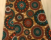 Pink, Yellow, Grey African Wax Cotton Print Fabric - African wax print Fabric - Ankara Fabric