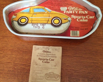 Vintage Wilton Racing Car Cake Pan 1979