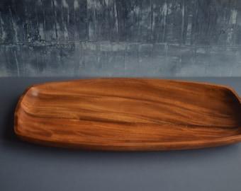 Long Vintage Timber Tray Platter