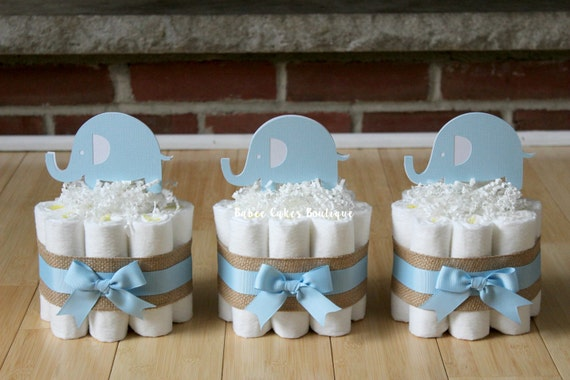 Items similar to set of mini light blue elephant diaper