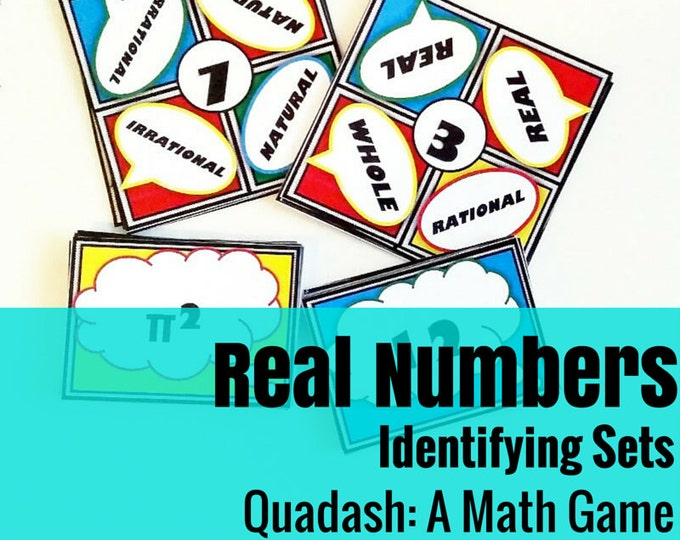 Real Number System Quadash Math Game: A Fun Way to Practice Identifying Number Sets and Subsets