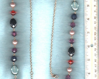 Necklace Chain Pearl Jewel Vintage Curated GORGEOUS Jewelry  -GIFT QUALITY Please Check Our Three Photos And OurExcellent CustomerFeedback -