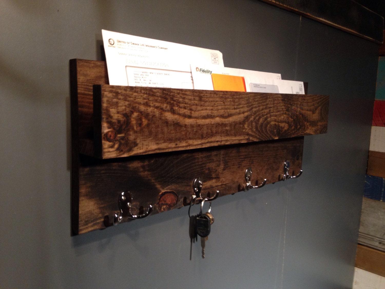 Modern Rustic Industrial Entryway Organizer Mail Holder