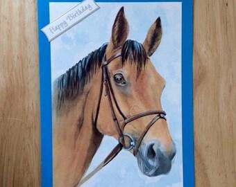 Horse Birthday Card, Birthday Card, Horse Card, Horse Art, Horse Greeting Card, Happy Birthday Card, Horse Birthday, Greeting Card, Birthday