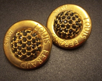 One Only * Authentic Vintage Louis Feraud Stunning Vintage 80's Clip On Earrings