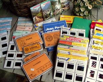 Vintage Color Slides - Set of 580 French Vintage Slides - Souvenirs from France - Paris - Seaside - Vintage Tourism Slide Set - Art Supplies