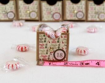 Advent Calendar - Drawers - Box - Reusable - Countdown Calendar -Jingle Bells - Christmas Advent - Children's Calendar - Refillable  KDA 016