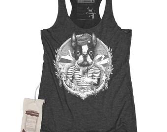 Boston Terrier Shirt - Women's Sailor Art Shirt Tank Top