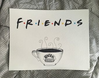 Friends Logo & Central Perk Mug