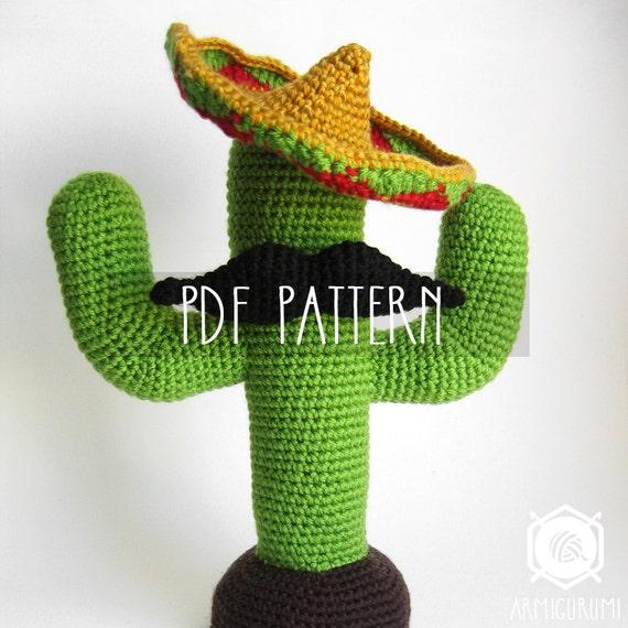 PDF PATTERN EN Mexican Cactus amigurumi crochet by Armigurumi
