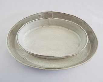 Two Nested Serving Bowls