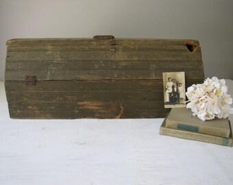 Wooden Tool Box, Antique/Primitive Tool Box, Rustic Wooden Tool Tote