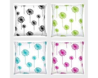 1 pillowcase white dandelion DANDELION 40 x 40 cm Green