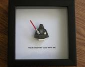 LEGO Star Wars Art Frame - Darth Vader - LEGo Christmas - LEGO Minifigure Display - Wedding Gift - Wall Decor - Picture Frames Displays