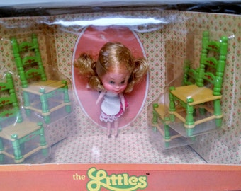 Vintage Mattel Half scale chairs, and doll. Item #17198