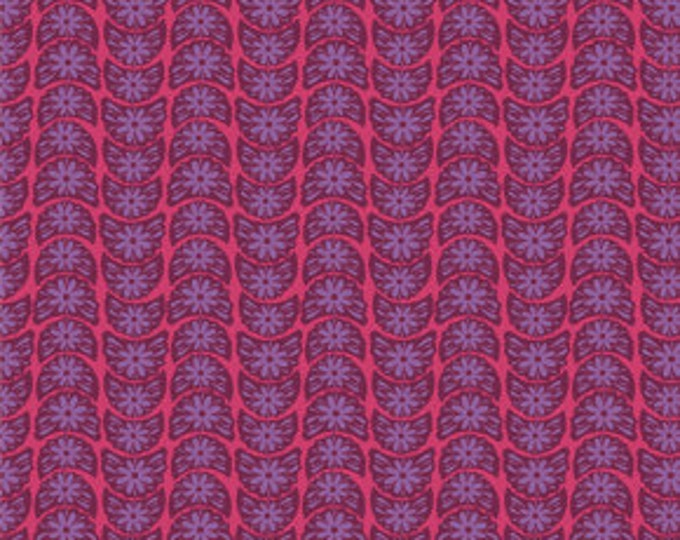 True Colors Anna Maria Horner Crescent Bloom Ruby - 1/2yd