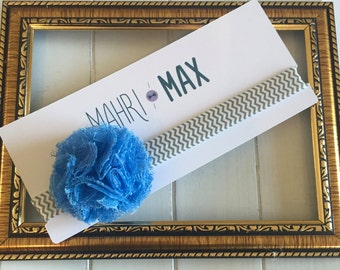 Small Blue Flower Headband