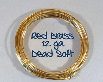 12ga 25ft DS Red Brass Wire