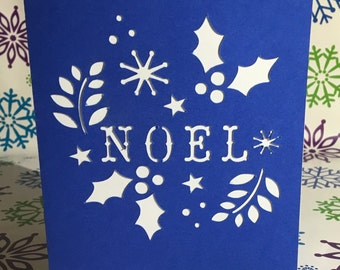Handmade Noel Christmas Card set of 12