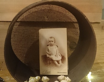 Antique little french wood sieve