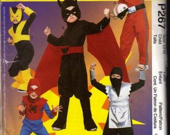 McCalls Pattern P267 Boys Super Hero Costumes Size: 3-6