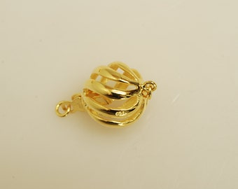 925 gold over sterling silver round clasp 2.2gr
