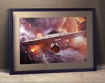 Enterprise - 'Ash' A3 Print