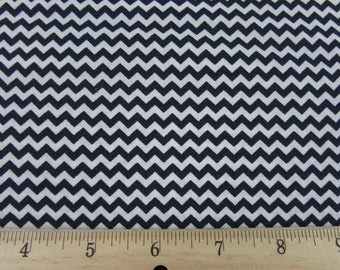 Mini Chevron Navy Blue Fabric BTY