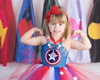 Captain America Girl tutu dress