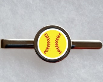 Softball Tie Clip - can be fully personalised