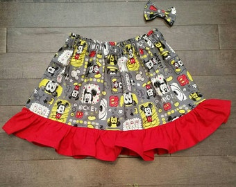 The Mickey Mouse Ruffle Skirt and Mini bow