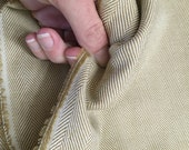 Tan herringbone chevron suiting fabric