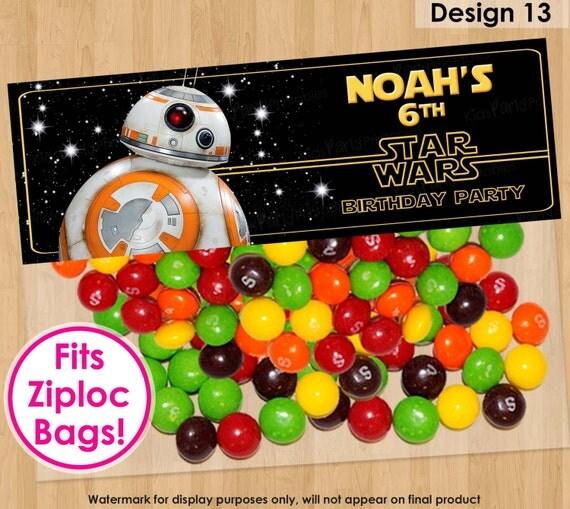 BB8 Bag Topper PRINTABLE BB8 Party Topper Star Wars Treat