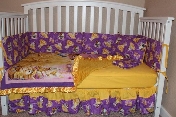 Crib Bedding Set Beauty And The Beast 5 Piece Bumperless