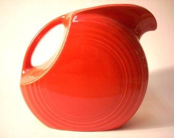 Scarlet Fiestaware Disk Pitcher