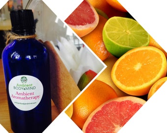 Energy Elixir Citrus Aromatherapy Massage Bath oil 100ml Grapeseed with Lemon, Grapefruit and Mandarin (2%) - Dispatched from UK supplier