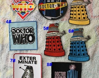 Doctor Who Iron on Patch TV Applique CD7