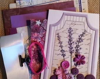 Inspiration Kit; Scrapbook Kit; Junk Journal Kit; Purple Craft Kit; Smash Book