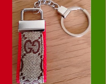 Gucci key ring or bag charm upcycled from old Gucci item