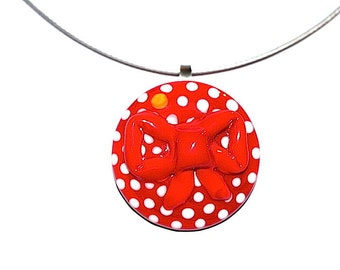 RED LOOP Ringtopper or pendant