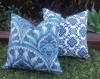 Outdoor Cushions, Outdoor Pillow Covers, Blue Tropical Tommy Bahama Pillows Alfresco Cushions Tropical Pillows