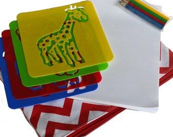 Zoo Animal Stencil Fun
