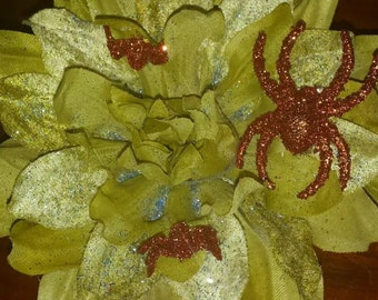 4 Inch Handmade Spider Flower Hair Bow